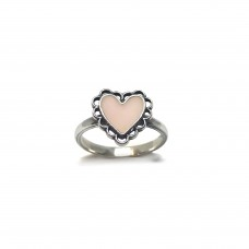 Tiny pink heart ring
