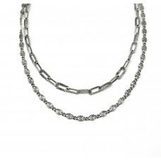 Double Chains Necklace