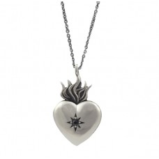 Open Up And Live Heart Pendant